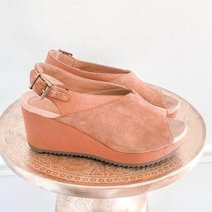 Vionic Trixie Platform Wedge Leather Sandals